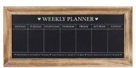Shabby Chic Styled Large Kitchen Weekly Planner Chalkboard, With Wooden Frame